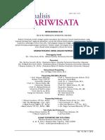 Jurnal Pariwisata Vol.13 No.1 2013