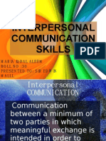 Interpersonal Communication Skills Ppt