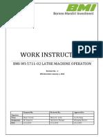 BMI WI 5711 02 Lathe Operation Rev.1