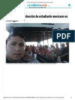 Confirma SRE Detención de Estudiante Mexicano en Nicaragua