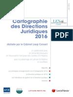 Cartographie des Directions Juridiques 2016