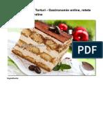 Tiramisu - Retete Torturi - Gastronomie Online, Retete Culinare Gourmandine