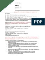 Thomasian Resume Format