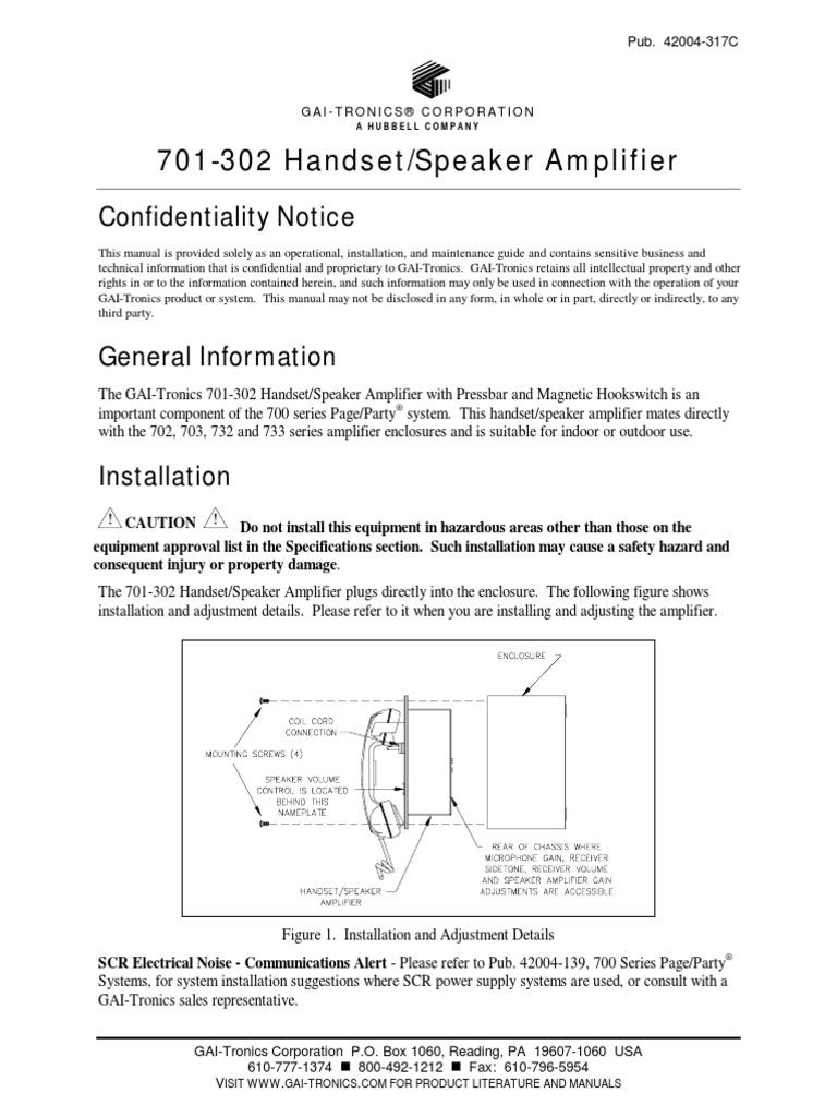701-302 Manual | Loudspeaker | Microphone