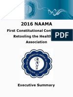 Executive Summary of NAAMA's Constitutional Conference