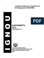PGDHHM Assignments