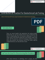 Contribution Of Practice For Geotechnical Lab Testing