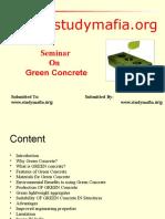 Civil Green Concrete Ppt