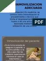 INMOVILIZACION ADECUADA presentacion
