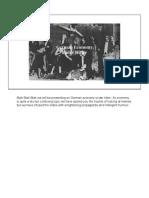 Rule of Hitler - Economy