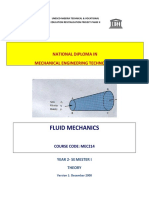 Mec 214 Fluid Mechanics Theory x