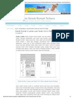 Denah Rumah 2 Lantai Luas Tanah 10x11 Meter _ Desain Denah Rumah Terbaru _ Denah Rumah Minimalis _ Desain Rumah Modern _ Tipe Denah Minimalis