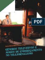 Livro Generos Televisivos e Modos de Enderecamento Edufba 2011