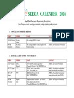 SEEOA CALENDER 2016 Version December 2015 (1)
