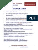 2. ONGs Documentos Necessários