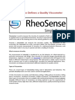 Viscometer - RheoSense