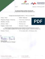 Mubadala Petroleum (Statement Letter)