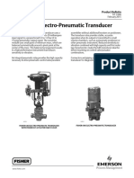 (3) Fisher 646 Electro Pneumatic Transducer