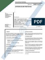 ABNT 5413 - Iluminância de Interiores - Procedimento