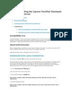 Manually Installing the Cypress TrackPad