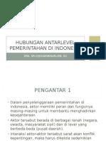 Hubungan Antarlevel Pemerintahan Di Indonesia