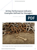 18 Key Performance Indicator Examples Defined
