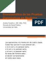 Bioestadística de Pruebas Diagnósticas en Medicina