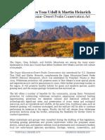 Fact Sheet – Organ Mountains-Desert Peaks Conservation Act
