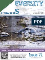 Biodiversity News #71 - Winter