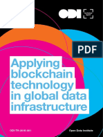 Applying blockchain technology in global data infrastructure