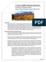 Security Provisions – Organ Mountains-Desert Peaks Conservation Act