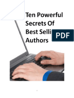 Ten Powerful Secrets of Best Selling Authors