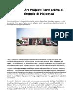 Milano Malpensa ParkinGO Art Project per sostenere l'arte e la creatività