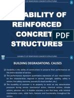 Durability of RC Structures
