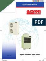 Acson Digital Variable Multi Units Application Manual