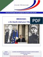 Mensonge - De Gaulle était pour l'Europe