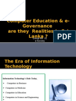 Computer Education & E-Governance