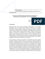 El Rol de La Defensoría Del Pueblo de Colombia en La Reivindicacion de l Derecho a La Consulta Previa