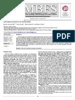 Antioxidant Potency of Water Kefir