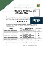 Certificado Oficial de Conducta