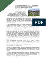 Nivel Del Servicio Peatonal en La Plaza de Armas