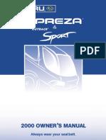 2000 Impreza Owners Manual