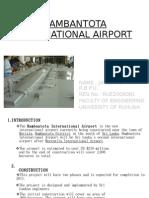 HAMBANTOTA INTERNATIONAL AIRPORT
