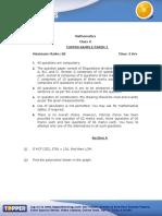 02class x Maths Sample Paper