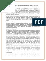 Critica de La Ley Orgánica de Municipalidades n
