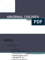 ABNORMAL CHILDREN