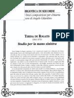 De Rogatis - Studio Per La Mano Sinistra