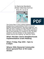 english flier for choice implementation grant meeting at mills 5 20 16