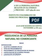 Insolvencia PersonaNatural Comerciante CGP