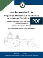 88 2 19 Obl Linguistica Morfosintaxis y Semantica de La Lengua Extranjera Ingles 88-2-19 Obl 3 1